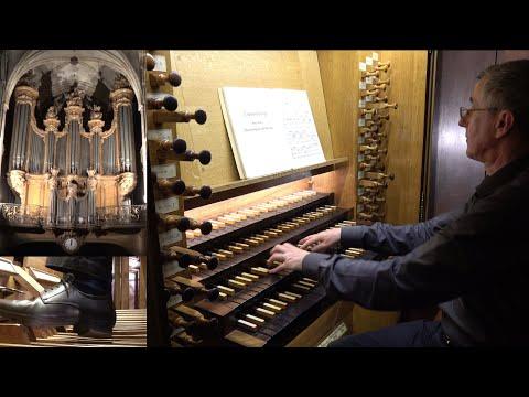 J.S. Bach Praeludium und fuge e-moll BWV 548 Christophe Mantoux à l'orgue de St-Séverin, Paris