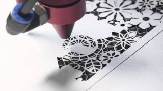 100 Watt Laser Cutter Makes Paper Wedding Invitation