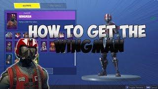 """How to Get NEW """"Wingman"""" SKIN + Free V-BUCKS Pack! - Fortnite Wingman! (New Fortnite)"""