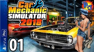 Let's Play Car Mechanic Simulator | Ps4 Pro Console Gameplay Episode 1 | Getting Started (p J)