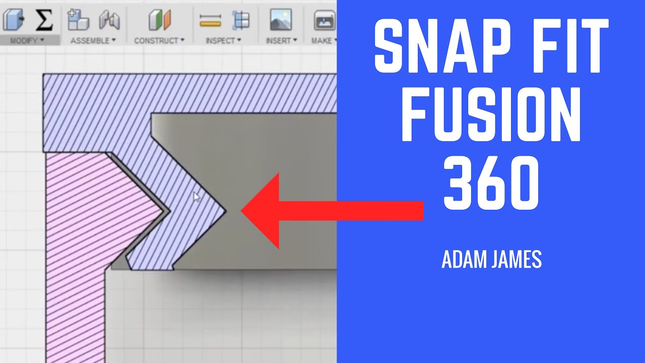 SNAP FIT IN FUSION 360!