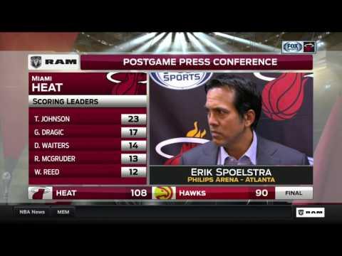 Erik Spoelstra -- Miami Heat at Atlanta Hawks 02/24/2017