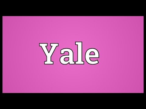 Yale Meaning