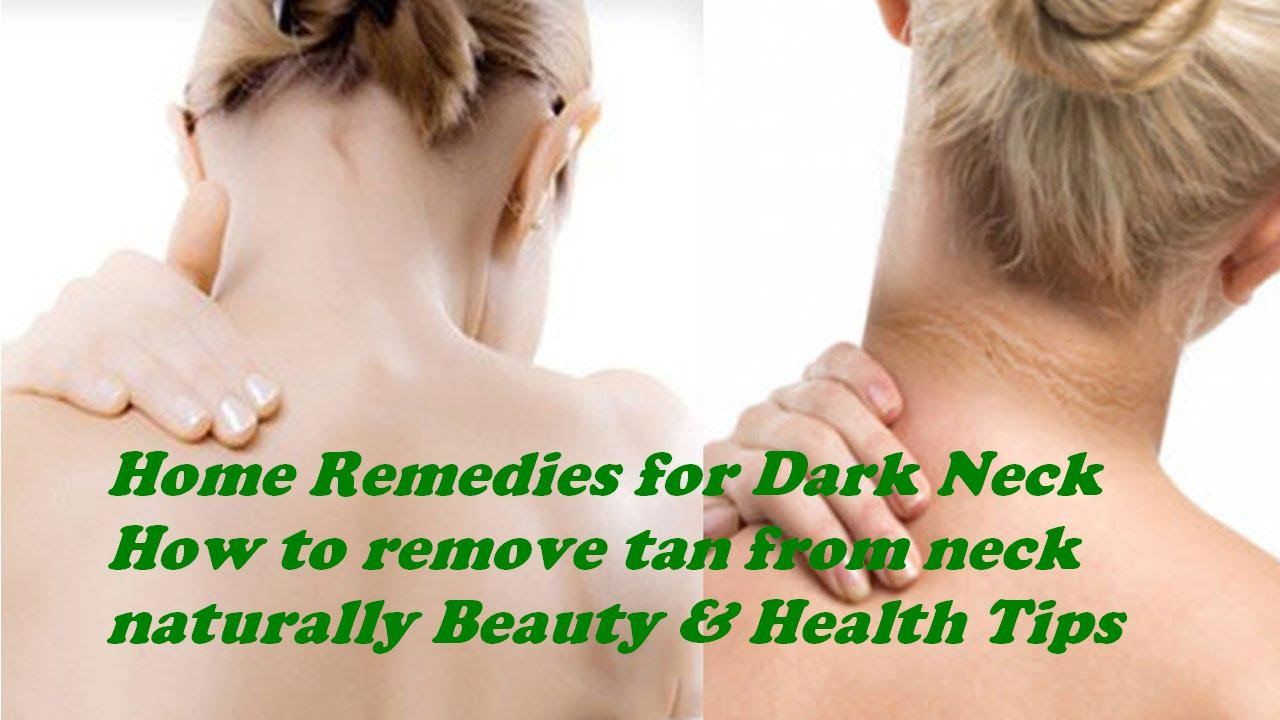 How to remove tan from neck naturally