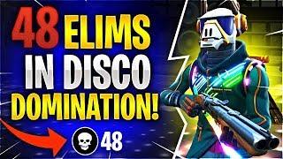 48 ELIMINATIONS IN DISCO DOMINATION! (Fortnite Battle Royale)