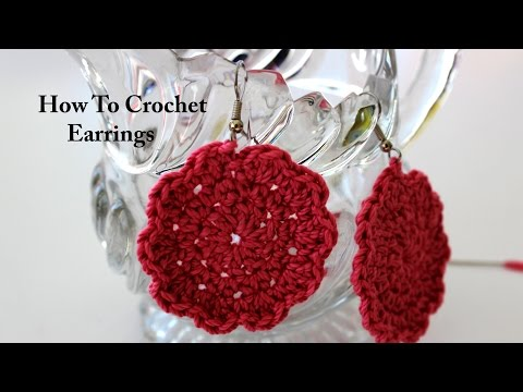How To Crochet Earrings, Simple and Fun!
