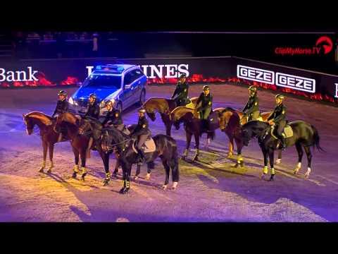 Showabend Polizeireiterstaffel Stuttgart- STUTTGART GERMAN MASTERS 2014