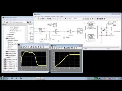 Modeling a Vehicle Powertrain (Release 2013a)