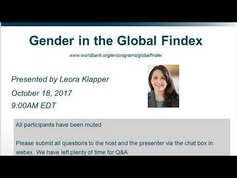 Gender and the Global Findex