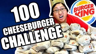 DRUNK Burger King 100 Cheeseburger Challenge  |  HellthyJunkFood