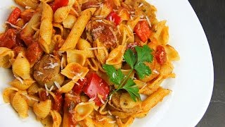 Simple Sausage and Peppers Pasta Sauce