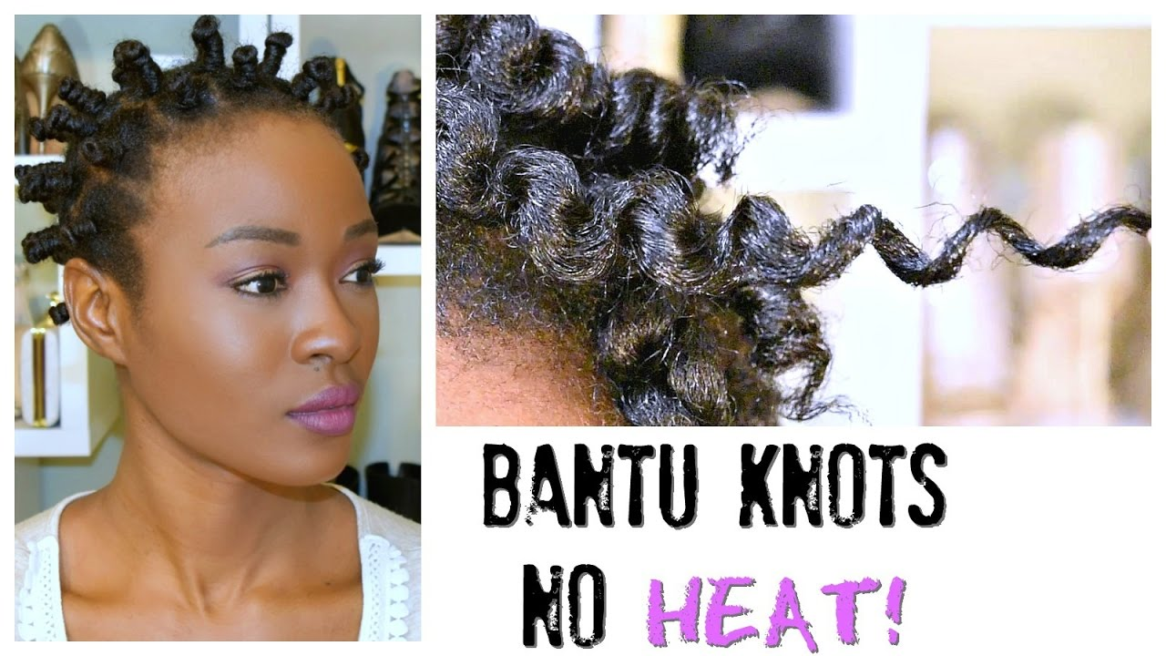Fluffy Bantu Knots From Scratch On 4c Natural Hair One Product No