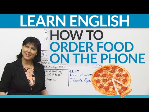 Real English – Ordering food on the phone