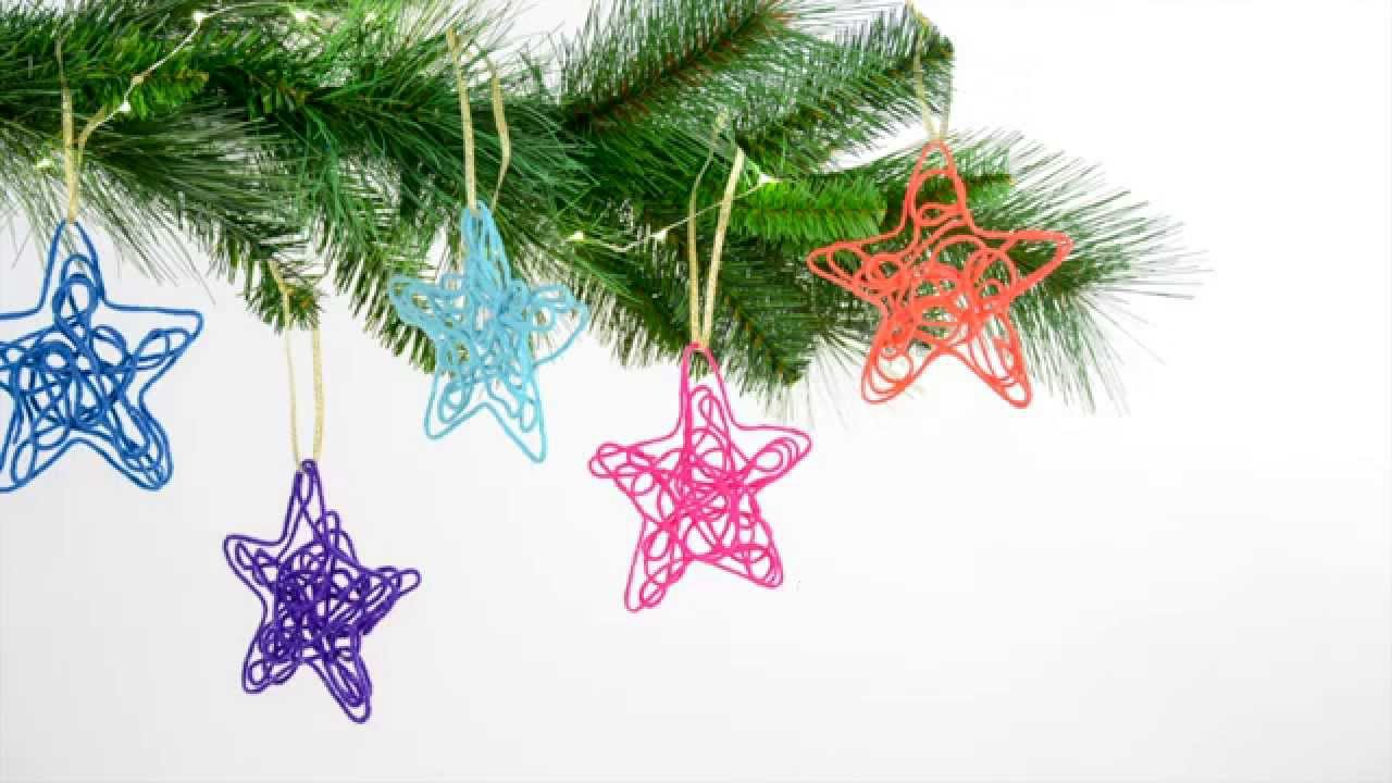 One more minute easy to make string christmas tree ornaments youtube solutioingenieria Gallery