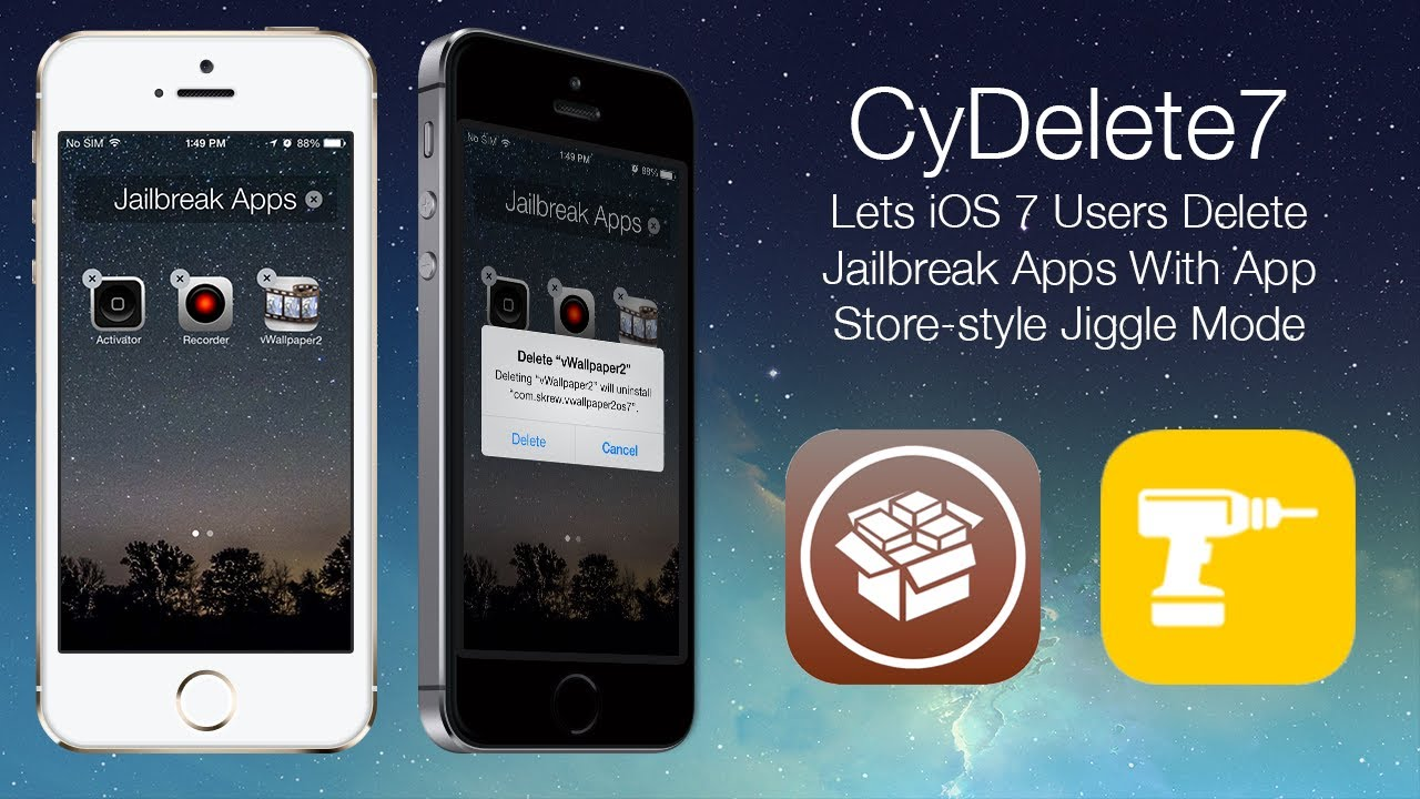 Cydelete7 lets ios 7 users delete jailbreak apps with app store cydelete7 lets ios 7 users delete jailbreak apps with app store style jiggle mode ccuart Choice Image