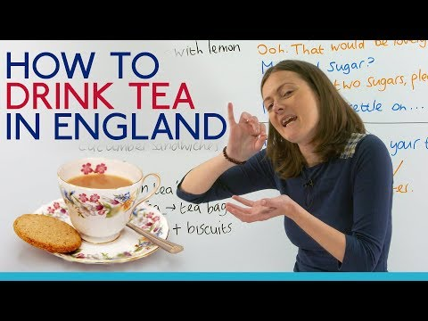 Drinking tea in England