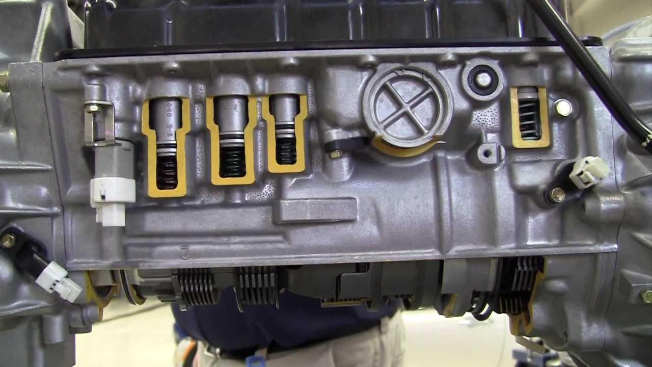 hight resolution of automatic transmission basic hydraulic operation