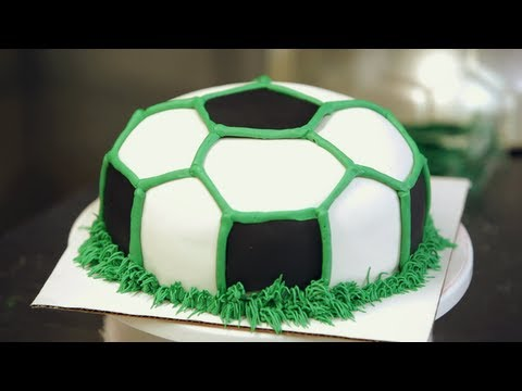 Cake Arch Balloon Design : Buttercream Grass for Soccer Ball Cake Birthday Cakes ...
