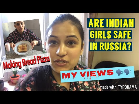 Safety Of Girls In Russia+ Making Bread Pizza|| MBBS IN RUSSIA 🇷🇺