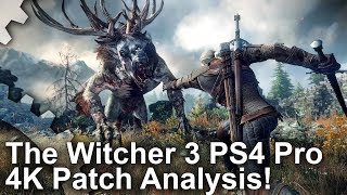 [4K] The Witcher 3: PS4 Pro Analysis, PC Comparisons + Frame-Rate Tests!