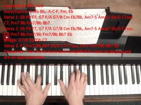 How To Play Souvenir By Billy Joel Youtube