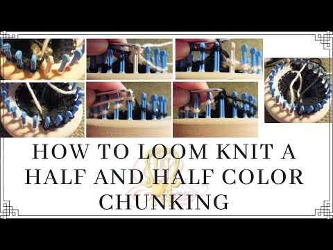 Loom Knitting With Two Colors : How to loom knit 2 colors with half and color changing youtube