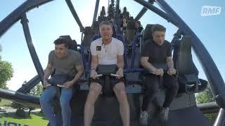 Piotr Kupicha próbuje śpiewać na rollercoasterze - EKSTREMALNE WYWIADY