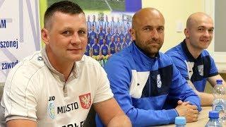 Trenerzy Truszkowski i Mazurkiewicz po meczu Korona Ostro³êka - MKS Przasnysz