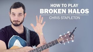 """In this tutorial, I'll show you how to play the song """"Broken Halos""""..."""