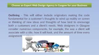 Choose an Expert Web Design Agency in Gasgow