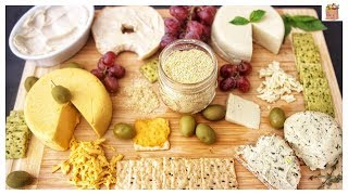Easy Vegan Cheeses (Mozzarella, Cheddar, Parmesan, Cream Cheeses) | The Mushroom Den
