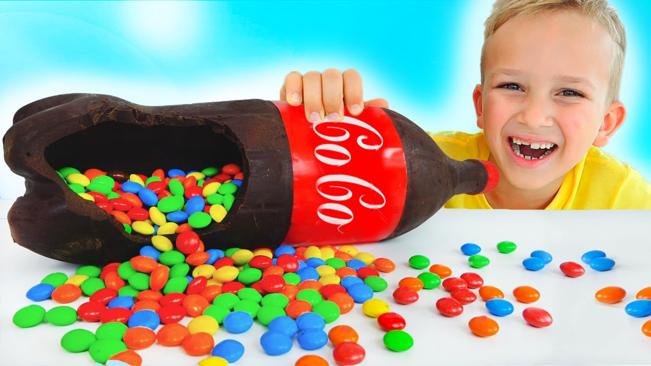 Download Vlad and Niki Chocolate & Soda Challenge and more funny stories for kids