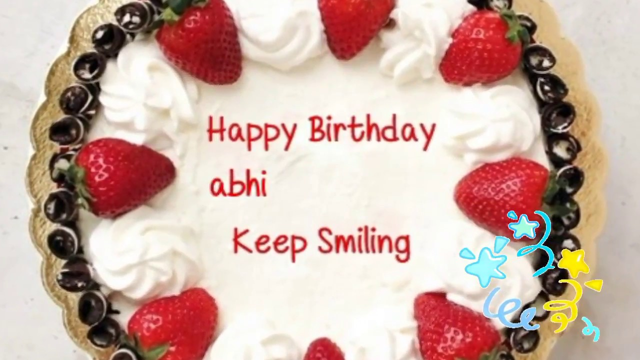 Happy Birthday Abhi Birthday Abhi Srri Youtube