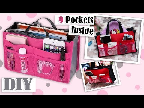 DIY ORGANIZER BAG IDEA // Adorable Storage Travel Zipper Pouch Bag Tutorial Very Easy Maki