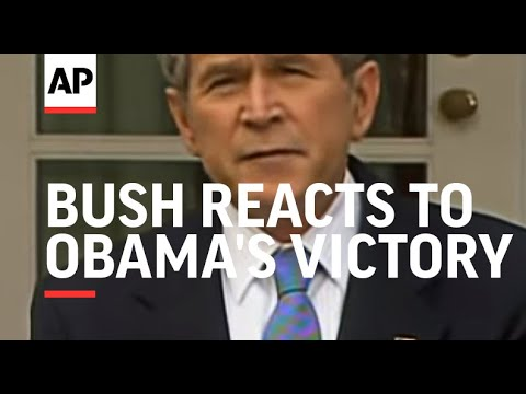 President Bush reacts to Obamas victory in 2008 election