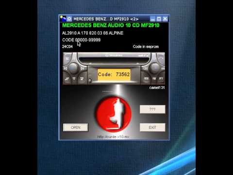 Mercedes benz audio 10 cd mf2910 youtube for Mercedes benz radio code