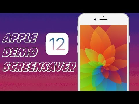 HOW TO GET APPLE DEMO SCREEN LIVE WALLPAPERS IOS 12 DEVICES!