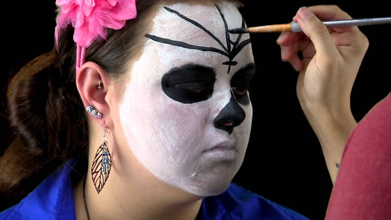 easy halloween day of the dead makeup tutorial sugar