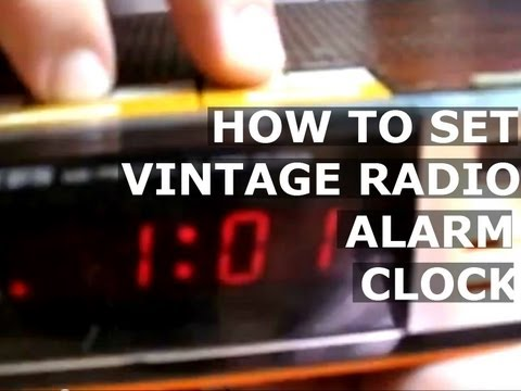 How To Set TIME ALARM CLOCK of VINTAGE Old LLOYD'S J375 771A RADIO AM FM BAND Digital Electric