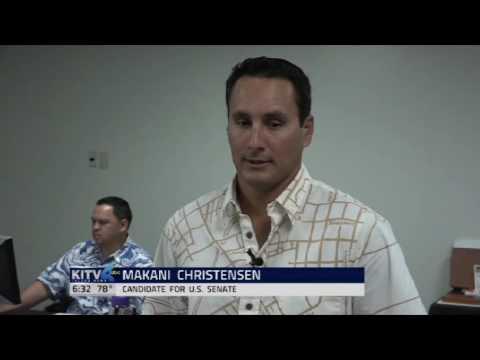 Makani Christensen runs for Senator of Hawaii