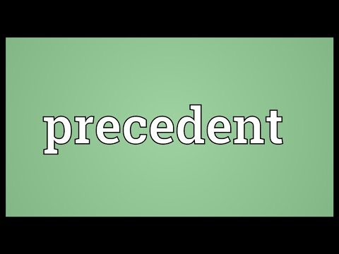 Precedent Meaning