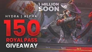 🔴PUBG MOBILE LIVE : 150 ROYAL PASS GIVEAWAY!  (SEASON 9) || H¥DRA | Alpha 😎😍