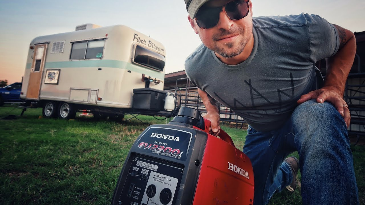Can a Honda Generator Run The AC? ⚡ RV Living & Van Life // Honda EU2200 &  EU2000 Inverter Generator