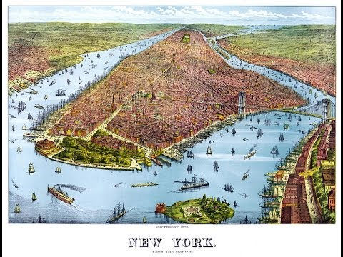 New York City Antique Map (1879)