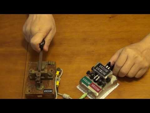 [Morse code] Keying practice with telegraph key and paddles