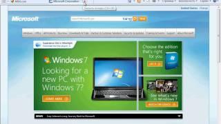 Работа с вкладками в браузере IE 8 в Windows 7 (14/29)
