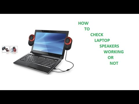How To Check Speaker Working Or Not On Laptop In Windows 7 Youtube