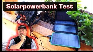 Solar Powerbank 4 Panels Test. Strom fürs Handy outdoor für den Fluchtrucksack?