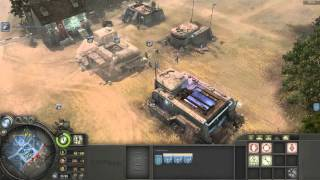 Company of Heroes - Axis (Panzer Elite) Luftwaffe Tactics Gameplay VS Expert A.I.