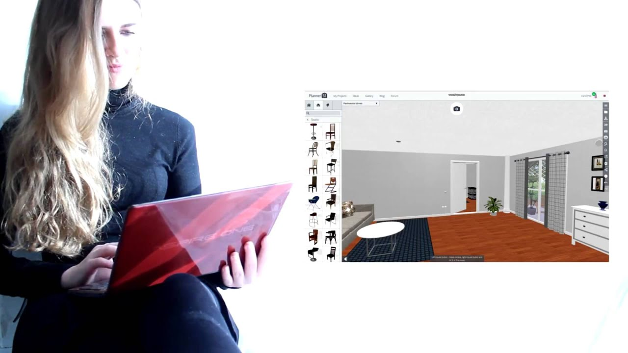 Planner 5D Home Design Online Tool - YouTube on